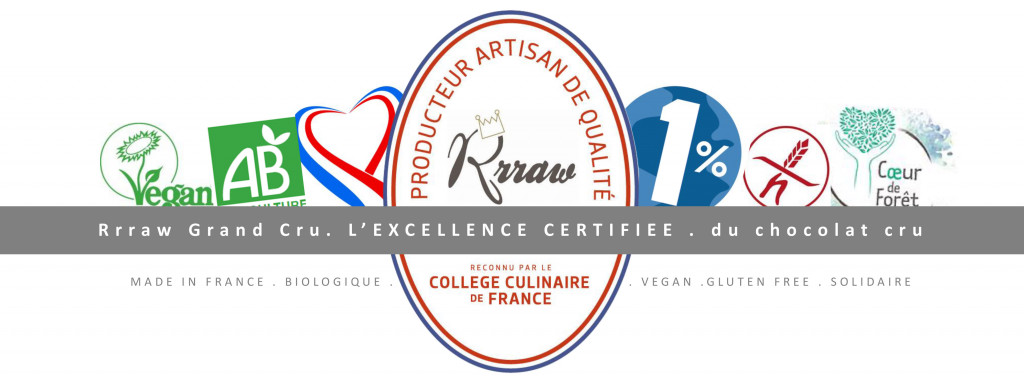 Rrraw l'excellence certifiée du chocolat cru